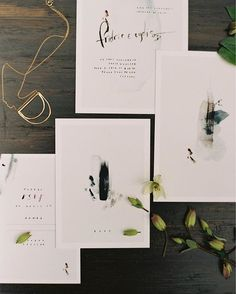 Love this modern artsy invitation suite. Gorgeous.