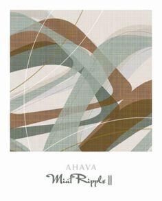 Mint Ripple II Print by Ahava at Art.co.uk