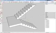 Como criar escadas com patamar intermédio no SketchUp (www.sketchup.iber...