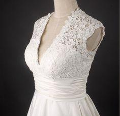 Custom Vintage A LINE Wedding Dress Bridal Gown Bridesmaid Dress Evening Prom Dress. $190.00, via Etsy.