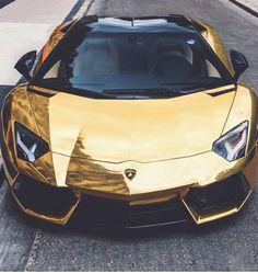Gold Black Lamborghini Fast Expensive Car