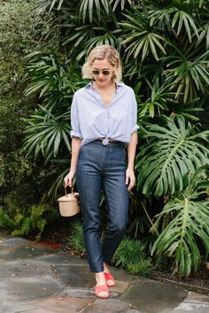 Vanessa Seward jeans.  A Week of Outfits: Haley Boyd | A Cup of Jo