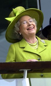 The Queen Attends the Derby    June 2002 (obviously her horse must have come in first)