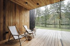 Image 8 of 32 from gallery of Family House Neveklov / ATELIER KUNC architects. Photograph by Jan Vrabec Modern Barn House, Journal Du Design, Charred Wood, Weekend House, Wood Patio, Minimalist Home Decor, Small Patio, House Plans, Home And Family