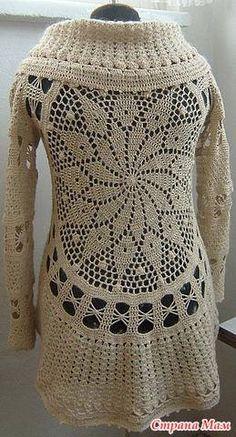 Circular crochet cardigan 1                                                                                                                                                                                 More