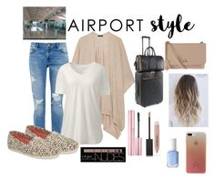 """""""Airport Style"""" by alliexo95 ❤ liked on Polyvore featuring Ted Baker, The Row, Lands' End, TOMS, STELLA McCARTNEY, Vivienne Westwood, Charlotte Russe, Essie, Burberry and Kate Spade"""