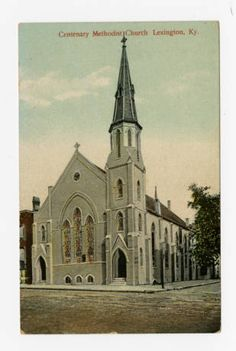 """""""Centenary Methodist Church, Lexington, Ky."""" :: Ronald Morgan Postcard Collection 1910"""