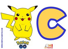 Alfabeto Gratis de Pikachu Pokemon Go.