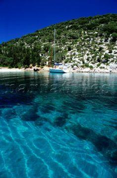 Foki beach near Fiskardo in Kefalonia Greece