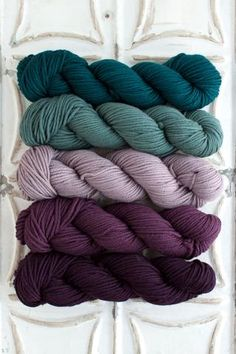 Yarn for Manatawna Scarf The Yarn for Manatawna Scarf kit includes 5 skeins of O-Wash Chunky – 1 skein each of Colors A, B Yarn Color Combinations, Color Schemes Colour Palettes, Colour Pallete, Yarn Colors, Colours, Crochet For Beginners Blanket, Crochet Yarn, Chunky Crochet, Crochet Blankets