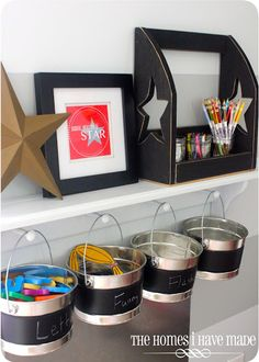 Great idea for kid's art supplies