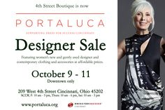 Can't wait for the Portaluca Boutique Designer Sale featuring women's new & gently used designer and contemporary labels.