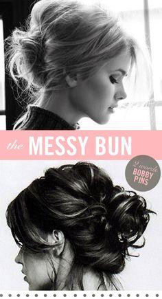 <3 the messy bun hair