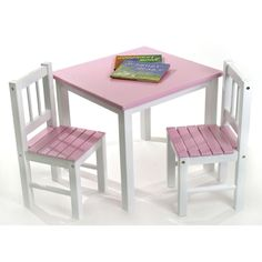 XO Kids Square Writing Table | Lipper international Kids s and Playrooms  sc 1 st  Pinterest : kids table chair set - pezcame.com