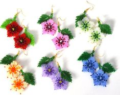 Beaded Dangle Earrings tassel Hula Girl gift for her jewelry Handmade Native American Style Doll Funny earrings Beach Jewelry Small Earrings, Pink Earrings, Seed Bead Earrings, Earrings Handmade, Women's Earrings, Crochet Earrings, Handmade Jewelry, Flower Earrings, Seed Beads