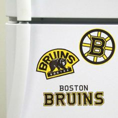 "Boston Bruins 3-Pack Magnet Set by Boston. $24.99. Multiple punch out magnets. Officially Licensed. Very collectible!. Decorate your favorite space in a burst of Bruins pride with this 3-pack magnet set. It features a team name and two team logo magnets, so no matter what combination you choose, you can ensure a vibrant, team-spirited display!6"" SheetAttaches to most smooth metal surfacesFor use on cars, do not leave magnet in one location for more than 24 hours to avoid pain..."