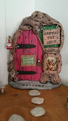 Check out this item in my Etsy shop https://www.etsy.com/listing/252395058/fairy-door-santas-toy-shop-christmas