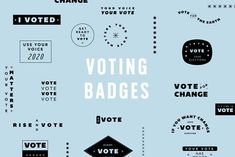 Voting Badges by Mere Hunter on @creativemarket