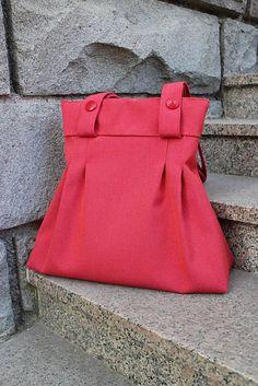 Sale, Red Bag, Red Tote Bag, Red, Tote bag, Recycled Bag, Handbag, Gift for Her, Designer Bag, Gift for Mom, Upcycled Bag, Girlfriend Gift Red Fashion Outfits, Red Tote Bag, Orange Fabric, Red Handbag, Girlfriend Gift, Red Blazer, Red Bags, Red Skirts, Red Shoes
