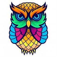 Owl Vectors, Photos and PSD files . Owl Doodle, Doodle Art, Owl Tattoo Drawings, Art Drawings, Drawing Simple, Owl Artwork, Owl Canvas, Owl Vector, Animal Paintings