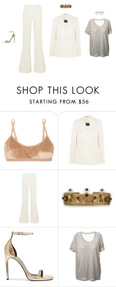 """""""Wednesday"""" by amberelb ❤ liked on Polyvore featuring Base Range, By Malene Birger, Dolce&Gabbana, Yves Saint Laurent and IRO"""