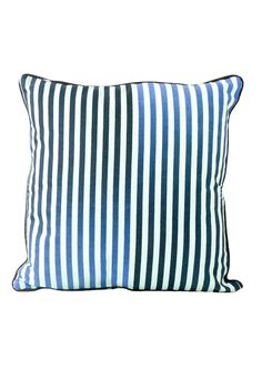 Sports Luxe Stripe Cushion. A square scatter cushion, with stripes. £15. MADE.COM