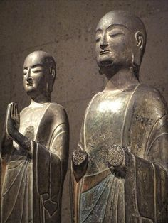 Pair of Buddhist Monks China Sui Dynasty (581-618 CE) Limestone 隋代