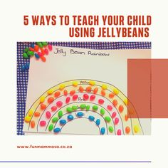 5 ways to teach your child using jellybeans - Mamma & Bear Pre Writing, Writing Skills, Phonetic Sounds, Counting Activities, Letter J, Color Shapes, Jelly Beans, Working On Myself, 5 Ways