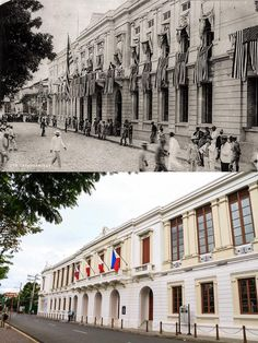 """Casas Consitoriales or Cabildo or """"AYUNTAMIENTO de Manila"""" present Bureau of the treasury (Main Office) Location Intramuros, Manila Philippines Wayback 19OO's *The building was roughly equivalent to City Hall *The first floor housed the courts and jail, second floor the administrative offices, a chapel and archives *The building was used as the meeting place for the Philippines Assembly Convened in 1907 Philippines Culture, Manila Philippines, Philippines Wallpaper, Fort Santiago, Filipino House, Philippine Architecture, Intramuros, Filipiniana, Colorized Photos"""