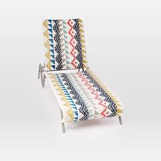 West Elm - All-Weather Wicker Colorblock Woven Chaise Lounger, $799, westelm.com $559