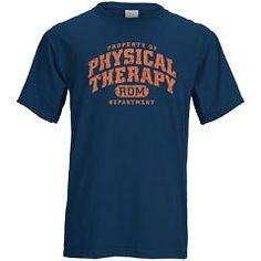 physical therapy blue shirt