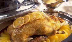 Πάπια με σάλτσα πορτοκαλιού Cypriot Food, Xmas Food, Greek Recipes, Gourmet Recipes, Poultry, Feta, Food Porn, Pork, Turkey