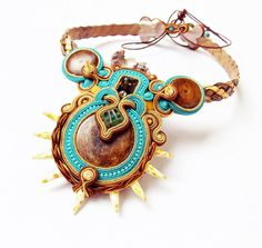 Sutasz biżuterii. Sutasz naszyjnik OOAK Biżuteria robiona ręcznie. Kolorowe Sutasz naszyjnik, zroszony biżuteria, biżuteria ręcznie wyjątkowy prezent dla niej.