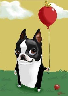 cute boston terrier drawings - Google Search