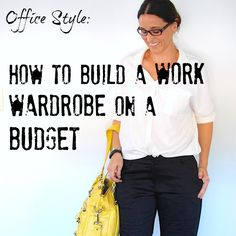 I have been out of the go-to-the-office-daily workforce for a long time & all my Country Road suits were donated to charity about 10 years ago. Now I need to find things to wear. How to build a Work Wardrobe on a budget