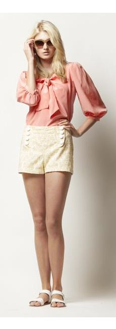 Lauren Tie Blouse orig 198.00 sale price $118  Hysteria: 40% off Leona Collection at Hysteria - Spring Summer 2012 -.