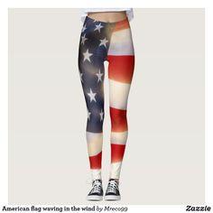 Custom Leggings, Best Leggings, Yoga Leggings, Yoga Pants, American Flag Waving, American Symbols, Usa Flag, Leggings Fashion, Fashion Outfits