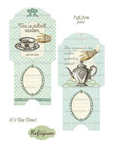 printable Tea Bag Envelopes INSTANT DOWNLOAD by digitalRefugium