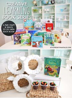 I love making learning fun for my kids! I made a Creative Learning Book Series where my kids and I have combined our favorite things to do… reading, snacking and crafting. We were inspired by our favorite Usborne Books and are sharing new videos every week!