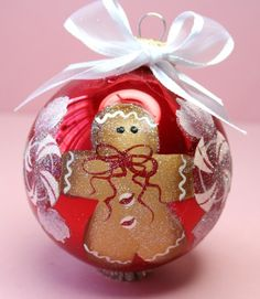 Hand+Painted+Ornament+-+Gingerbread+-+Can+BEE+Personalized+-+GBD402