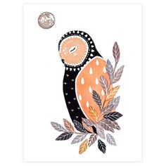 What a lovely print for a nursery, if the colors are right. Luna Owl, $28, now featured on Fab.