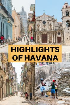 The highlights of Havana, Cuba. Find out what you shouldn't miss when visiting the Cuban capital. Includes a video of the main ones and plenty of photos of the city and its culture and people. Varadero, Cuba Travel, Cruise Travel, Beach Travel, Mexico Travel, Spain Travel, Vinales, Barbados, Viva Cuba