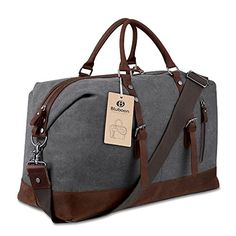 Canvas Overnight Bag Travel Duffel Genuine Leather for Me... https://smile.amazon.com/dp/B01BUQDJLE/ref=cm_sw_r_pi_dp_x_UoBmzbK67G9DQ