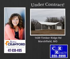 Another one Under Contract! Call Retta today to get your home listed or to look for your next property! 417-838-4105 Missouri Real Estate, Home List, That Look