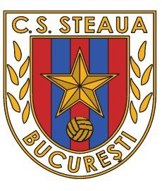 CS Steaua Bucharest of Romania crest. Sport Club Corinthians, Football Team Logos, Graphic Design Posters, Crests, Captain America, Badge, Barcelona, Soccer, Superhero