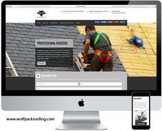 Nuestro más reciente próyecto de página web para: Wolfpack Roofing - Garland, TX  www.wolfpackroofing.com
