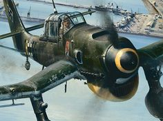 Ju 87 - used in the earlier coastal phase of the battle, but withdrawn after heavy losses.