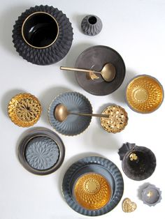 Black blue gold | Keramik | DUTCH LIVING – wir lieben und leben holländisches…