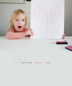 Valentines Dotted Heart Art