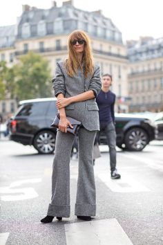 Just because their style rules are simple doesn't mean that Parisian women are afraid to take a risk. Tackle blazers, trousers, suits and co-ords for a classic, tailored look.